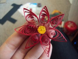 Quilled Holly Flower by FerrerTriple0