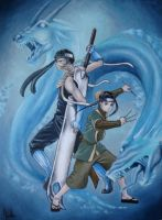 Commission: Zabuza and Haku by ErithEl