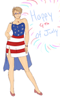 Obligatory Fourth of July Alfred by TaintedLaughter