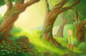 Child of the Forest by sketchhy