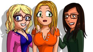 Big Bang Theory girls by kaeveris