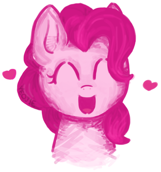 Pinkie Pie - Trying out Silisboo's coloring style by Jonah-yeoj