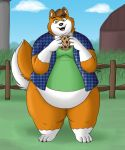 Country Husky by PudgeyRedFox