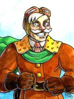 Sketchcard Power Stone Pride Falcon by fedde