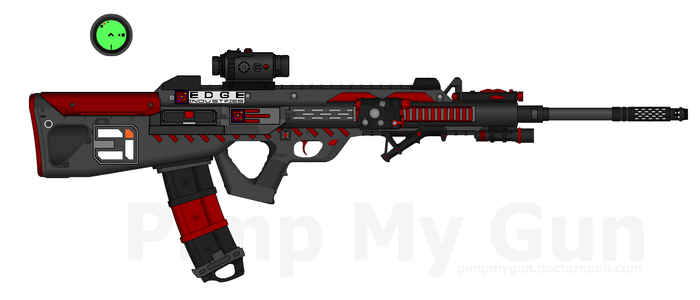 DII-EI HCR-88 'Eviscerator' Heavy Combat Rifle by Lord-DracoDraconis