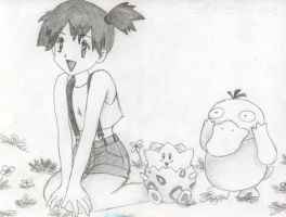Misty Togepi and Psyduck by princesspurpleblob
