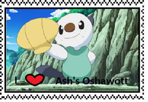 Ash's Oshawott fan stamp by Fran48