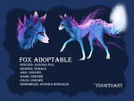 New Fox Adoptable (SOLD) by Yourtoast
