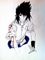 Uchiha Sasuke (WIP) With New Pens by TravelingArtist93