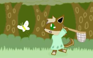 DAVille- Catching butterflys by Pinkytheeevee