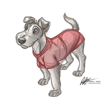 Dodger The Foxterrier Sketch - Comission by ISHAWEE