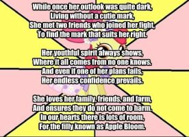 My Little Poetry -Apple Bloom- by snakeman1992
