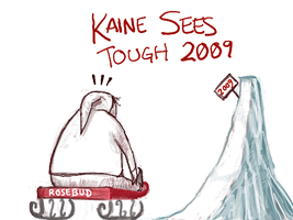 Kaine Sees Tough 2009 by angryzenmaster