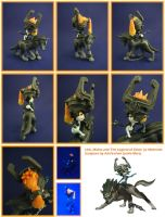 Link and Midna Sculpture by aachi-chan