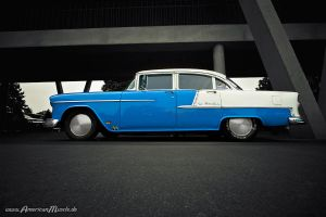 two tone 55 bel air by AmericanMuscle