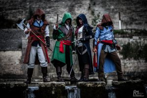 Assassin's creed Unity cosplay groupe by E2cosplay