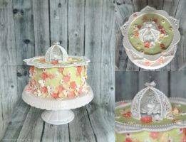 Caged Flower Cake by ginkgografix