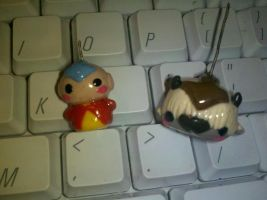 Aang and Appa poly clay charm by SoundStar