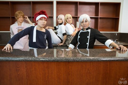 Shokugeki no Soma cosplay group by AzHP