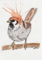 Sparrow Poof by IckyDog