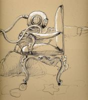 Deep Sea diver by mylipstickexploded
