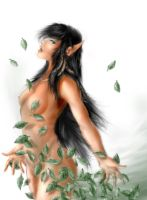 lady of the leaves by YamaOrce