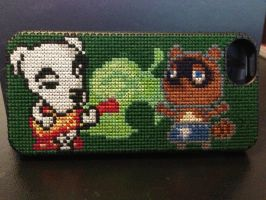 Animal Crossing Cross Stitch iPhone 5 case by Rosaka