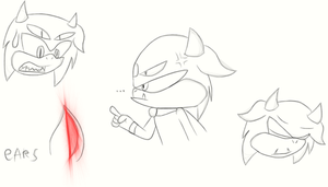 facial expressions by SonicMila