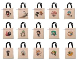 Some of the tote designs so far by ComplexWish