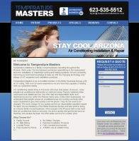 Temperature Masters WordPress Website Design by joshjacoby