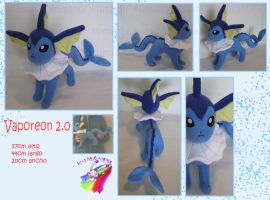 vaporeon plush handmade by chocoloverx3