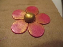Gold and Magenta Flower by drakeo1903