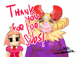 Thank you  for 100 subs by Tentakustar