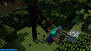I think enderman win... by TheCakeMinecraft
