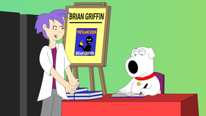 Frieza (as Fred) meets Brian at his book signing by LDEJRuff
