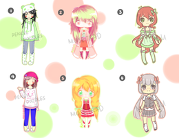 Adopts : Collab with Miieru and Musetrad [OPEN] by doodles-adopts