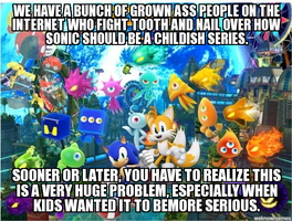 The Sonic fandoms huge problem by Psyco-The-Frog