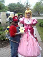 Mario And Princess Peach by Lionofdemise