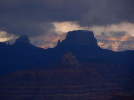 Breaking Storm at Grand Canyon by Geotripper