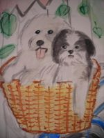 Puppies In A Basket by RedRoseQueen
