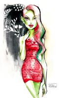 Venus McFlytrap in a strawberry dress by darkodordevic