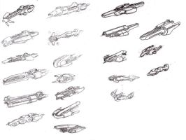 Space Ship Sketches by ModalMechanica