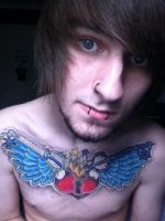 Kingdom Hearts finished chest tatoo by TristanChallis
