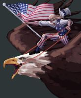 Uncle Sam the Liberator by Kneobert