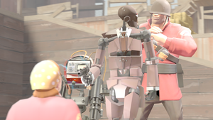 [SFM] {Soldier x Fem Engineer} Bodygaurd by UniTheLucario