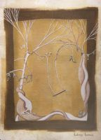 Pastel Painting - Clove and Cardamon Tangle by NellieWindmill