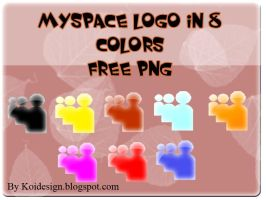 myspace logo in 8 colors by koidesign