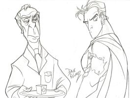 Bruce and Alfred by me by DaveAlvarez