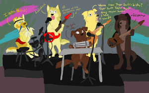 Meanwhile, at Band Practice... by JackdawTheFabulous