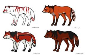 Wolf Adoptables 6 by Fells-Adopts